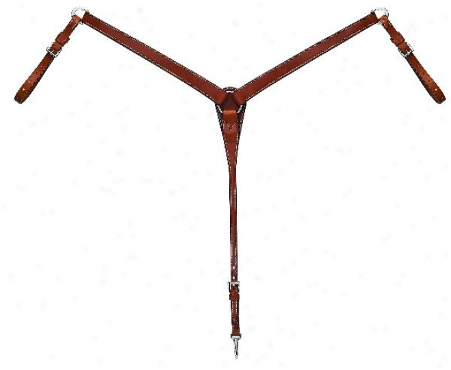 Weaver Bridle Leather Tapered Face Collar - Brown - Horse