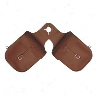 Weaver Chap Leather Pommel Bag - Brown