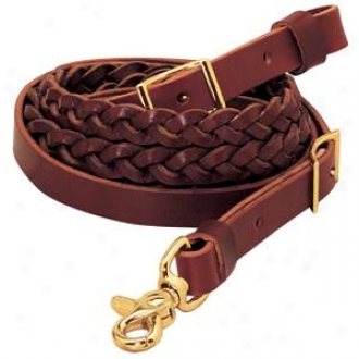 Weaver Classic 3-plait Leather Roper Reins