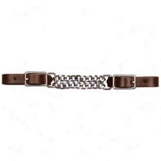 Weaver Double Shoal Link Chain Curb Strap - Mahogany - 4 1/2