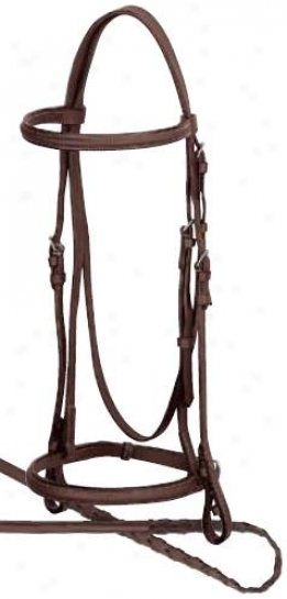 Weaver Economy Raised Leather Bridle - Brown - Full
