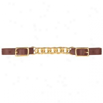 Weaver Lower by a semitone Link Curb Strap With Solid Brass Hardware