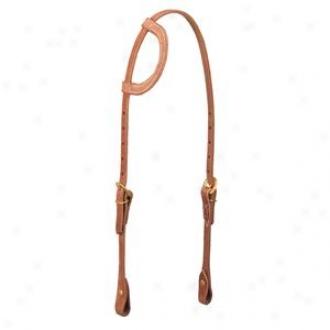 Weaver Flat Sliding Eae Headstall - Russet - Horse