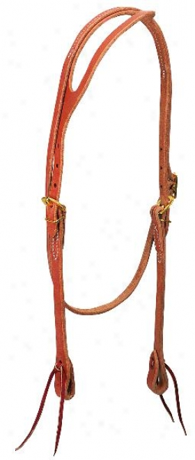 Weavet Harness Leather Form  Ear Headstall - Russet - Horse