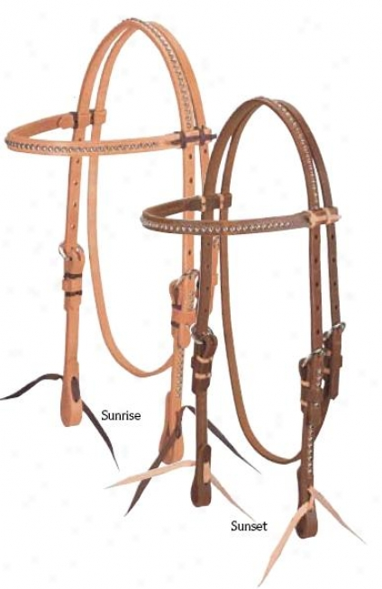 Weaver High Noin Browband Headstall