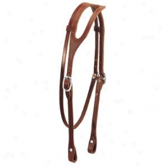 Weaver Latigo Leather Shape Musical perception Headstall - Burgundy - Horse