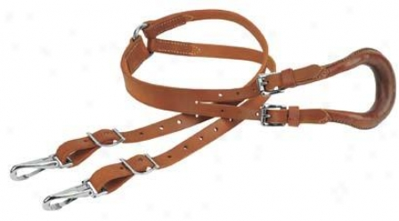 Weaver Leather Crupper With Twice Strap And Buckles - Russet - Horse