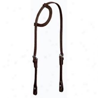Weaver Leather Flat Sliding Ear Headstall - Black - Horse