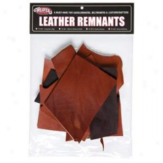 Wewver Leather Remnant Bags - Bridle Leather - Black/chestnet - 1 Lb.