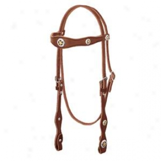 Weaver Lone Star Legend Scalloped Browband Headstall