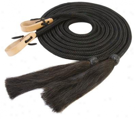 Weaver Nylon Split Reins With Horsehair Tassel