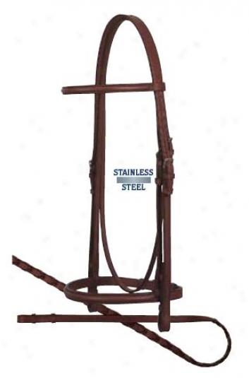 Weaver Premium English Plain Raised Bridle With Reins