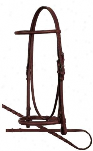 Weaver Premiuk English Square Raised Bridle With Reins - Oambark - Full