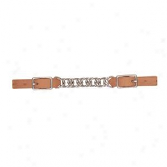 Weaver Protack Single Flat Link Chain Curb Strap - Russet - 3 1/2