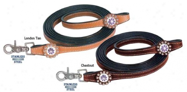 Weaver Purple Diamond Roper Reins