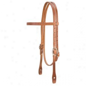 Weaver Single-ply Browband Headstall By the side of Nickel Plated Hardware