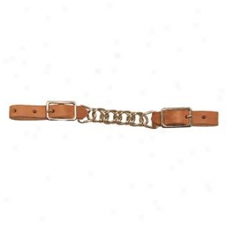 Weaver Ss Single Flat Link Chain Curb Strap - Russet - 3 1/2