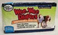 Wee Wee Diapers - White - Medium
