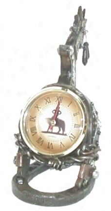 Western Style Spur Mantle Clock-  Brown - 8