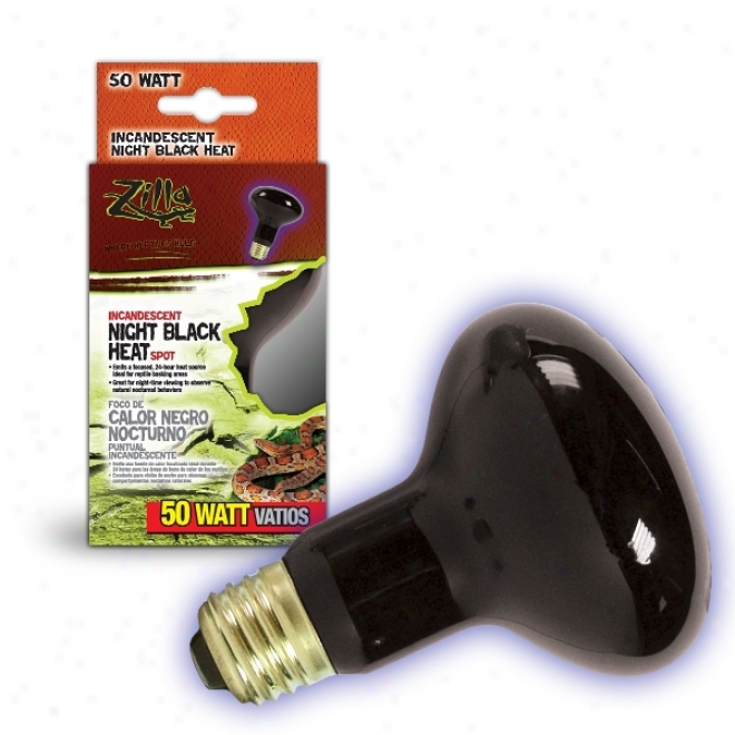 Zilla Night Black Heat Incandescent Spot Bulb