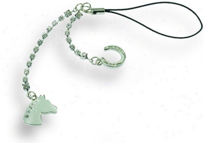 Zipper Pull/decorative Strap With Net Rhinestones, In Gift Box