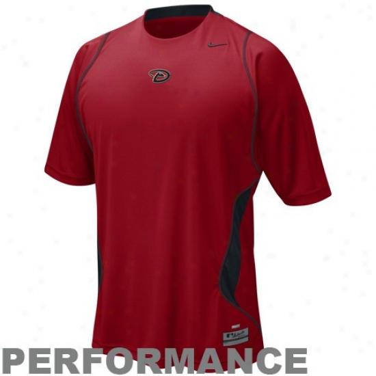 Arisona Diamondbacks Apparel: Nike Arizona Diamondbacks Sedona Red Nike Fit Performance Training Top