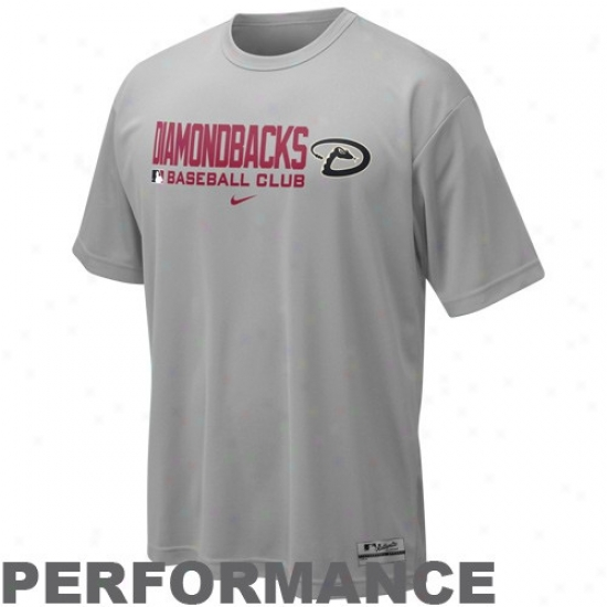 Ari2ona Diamondbacks Attire: Nike Arizona Diamondbacks Gray Nikefit Team Event Performance Training Top