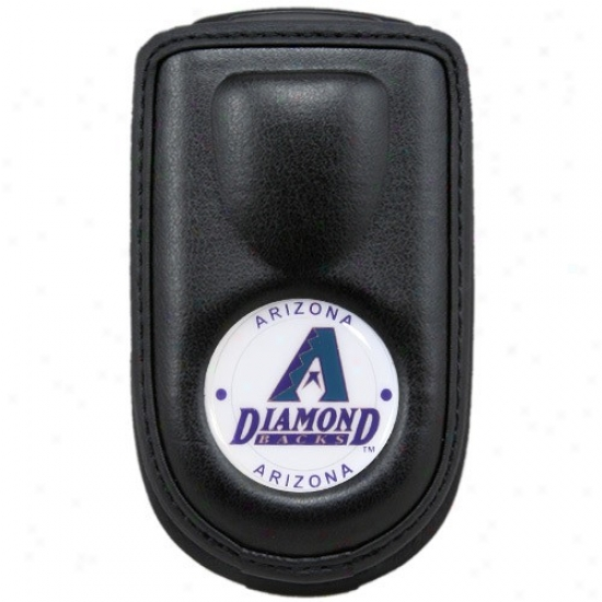 Arizona Diamondbacks Black Leather Cell Phone Case