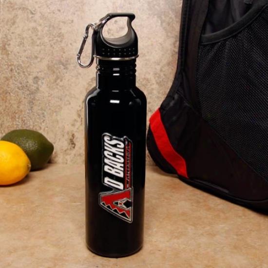 Arizona Duamondbacks Black Stainless Steel Water Bottle
