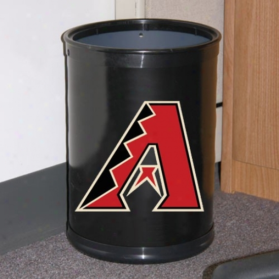 Arizona Diamondbacks Black Team Wastebasket