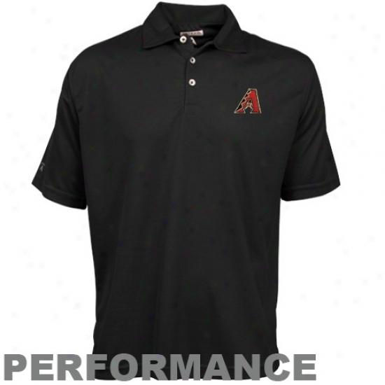 Arizona Diamondbacks Clothing: Antigua Arizona Diamondbacks Black Excellence Performance Polo