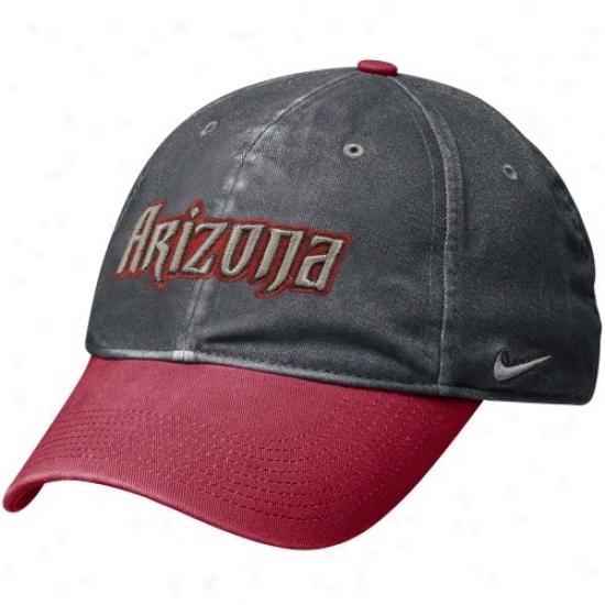 Arizona Diamondbacks Hat : Nike Arizona Diamondbacks Graphite-red Legacy 91 Circus Catch Flex Fit Hat