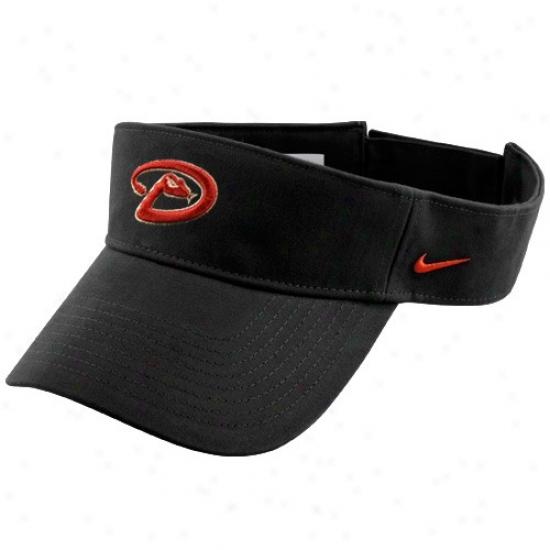 Arizona Diamondbacks Hats : Nike Arizona Diaamondbacks Black Mlb Adjustable Visor