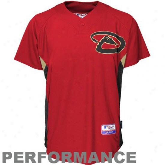 Arizona Diamondbacks Jerseys : Majestic Arizona Diamondbacks Crimson Batting Practice Replica Jersseys