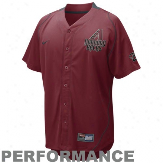 Arizona Diamondbacks Jerseys : Nike Arizonaa Diamondbacks Maroon Fastball Performance Jerseys