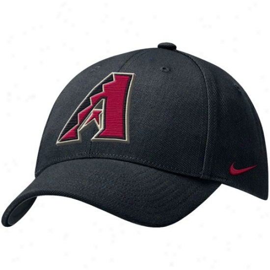 Arizona Diamondbacks Merchandise: Nike Arizona Diamondbacks Blackk Wool Classic Adjustable Cardinal's office