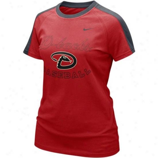 Arizona Diamondbacks Shirt : Nike Arixona Diamondbacks Ladies Sedona Red Center Field Shirt