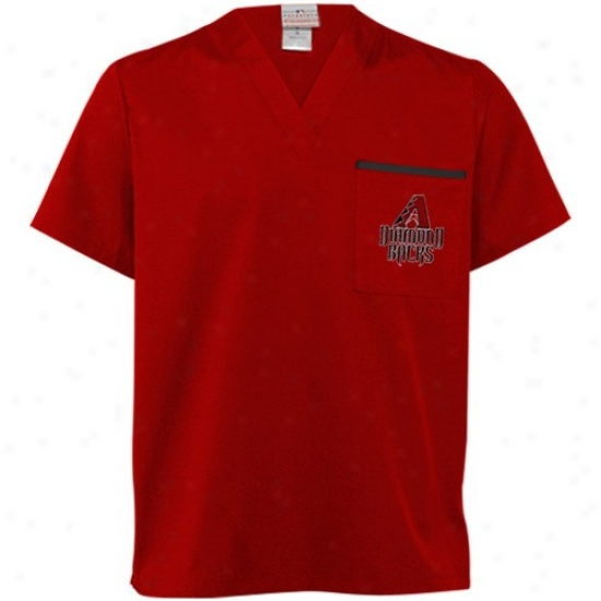 Arizona Diamondbacks Tees : Arizona Diamondbacks Sedona Red Scrub Top