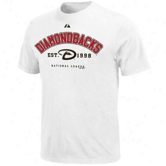 Arizona Diamondbacks Tshirts : Majestic Arizona Diamondbacks White Base Stealer Tshirts