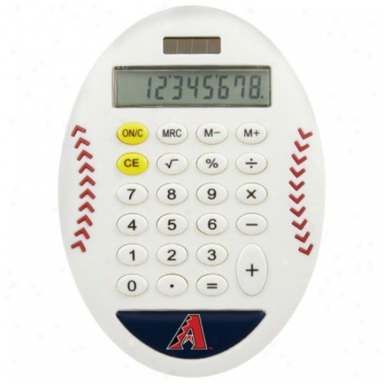 Arizona Diamondbacks White Baseball Pro-grip Calcylator