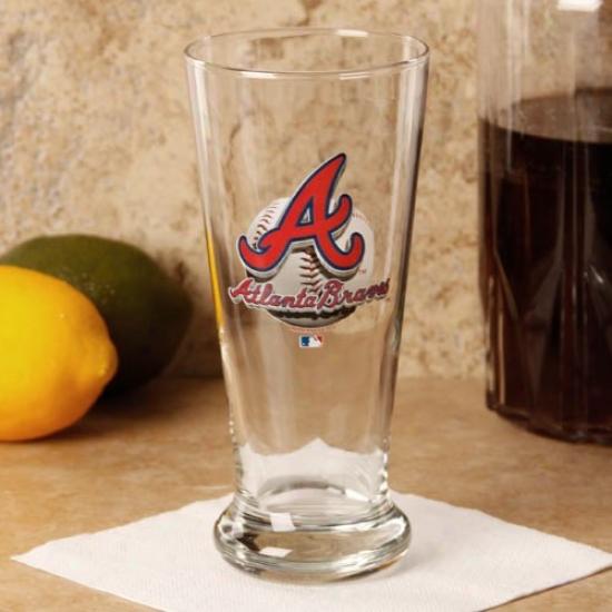 Atlanta Braves 16.5 Oz. Enhanced Hi-def Flared Pilsner Glass
