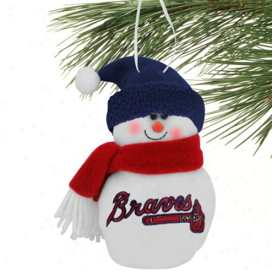 Atlanta Braves 6'' Plush Snowman Ornament