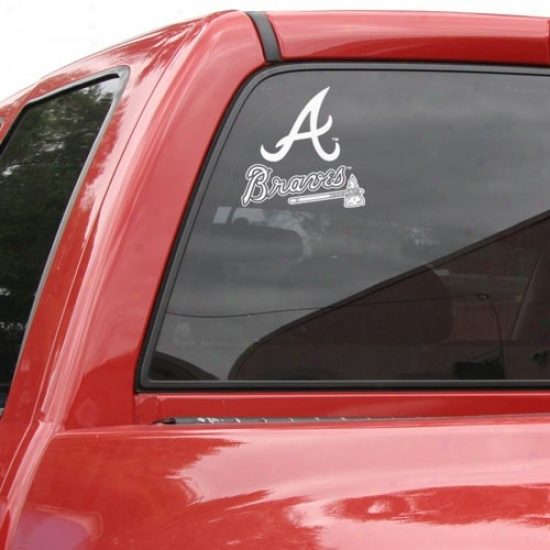 Atlanta Braves 8x8 Whige Logo Decal