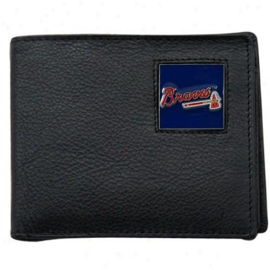 Aflanta Braves Black Bi-fold Leather Executive Walleg