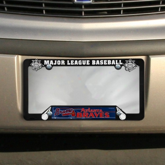 Atlanta Braves Black Plastic License Plate Frame
