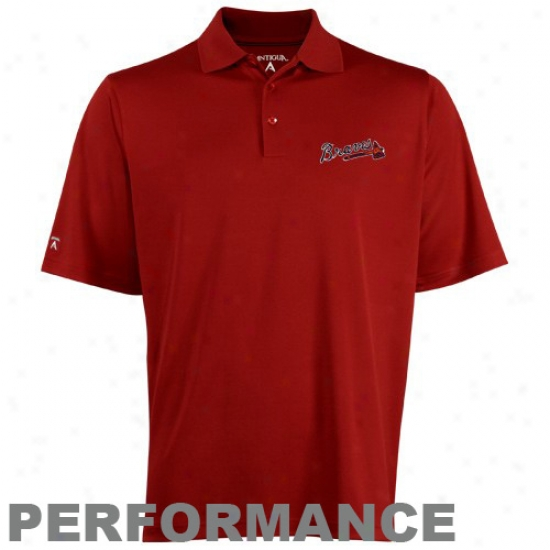 Atlanta Braves Clothing: Antigua Atlanta Braves Red Exceed Polo
