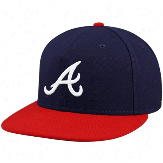 Atlanta Braves Accoutrements: New Era Atlanta Braves Navy Blue On-field 59fifty Fitted Hat