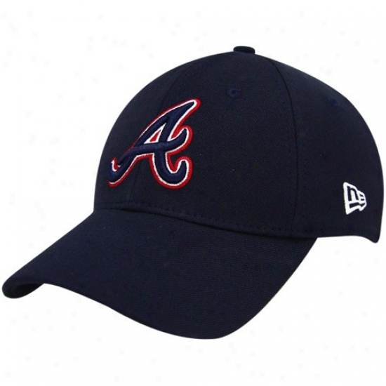 Atlanta Braves Hat : Ne wEra Atlanta Braves Navy Blue Team Tonal 39thirty Fitted Hat