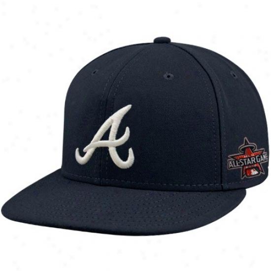 Atlanta Braves Hat : New Era Atlanta Braves Navy Blue 2010 Mlb All-star Game 59fifty Fitted Performance Hat