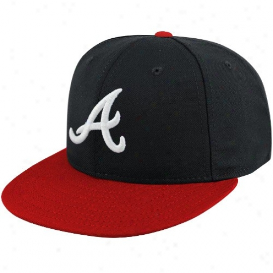 Atlanta Braves Hat : New Era Atlanta Braves Youth Navy Blue-red On-field 59fifty Fitted Hat